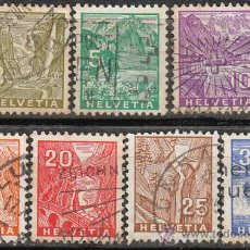 Sellos: SUIZA IVERT 271/7, PAISAJES, USADO (SERIE COMPLETA). Lote 29602139