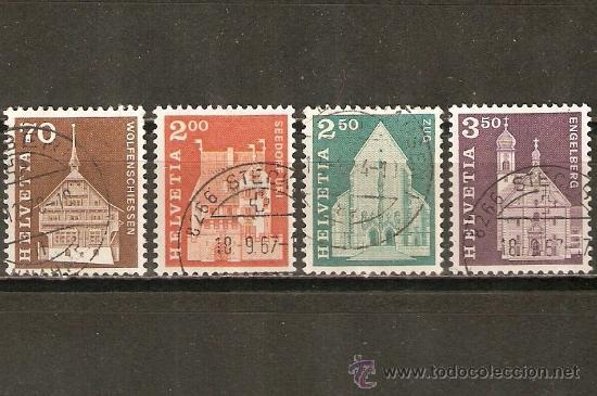 SUIZA YVERT NUMERO 795/8 SERIE COMPLETA USADA (Sellos - Extranjero - Europa - Suiza)
