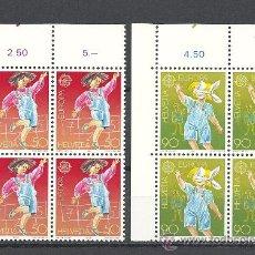 Sellos: SUIZA 1989, YVERT Nº 1323/1324**, EUROPA. B-4, JUEGOS INFANTILES.. Lote 31977149
