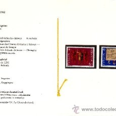 Sellos: SUIZA 1150/1 LIBRITO SIN CHARNELA, TEMA EUROPA, HECHOS HISTORICOS, . Lote 32798579