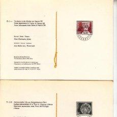 Sellos: SUIZA 1090/1 LIBRITO PRIMER DIA, ARTESANIA, RELIGION, FUENTE BAUTISMAL, CUADRANTE ASTRONÓMICO. Lote 32808044