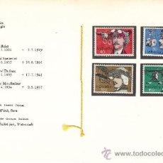 Stamps - suiza 1017/20 librito sin charnela, avion, pioneros de la aviación de Suiza - 32834219