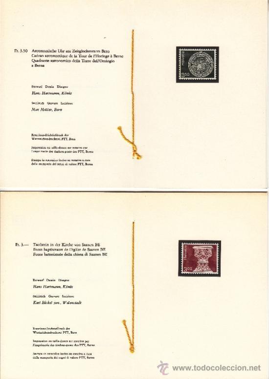 SUIZA 1090/1 LIBRITO SIN CHARNELA, ARTESANIA, RELIGION, FUENTE BAUTISMAL, CUADRANTE ASTRONÓMICO (Sellos - Extranjero - Europa - Suiza)