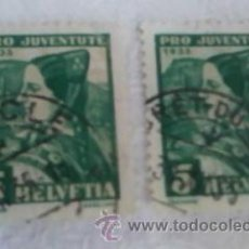 Sellos: SELLOS SUIZOS HELVETICA PRO JUVENTUTE 1935 . Lote 33081967