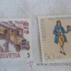 Sellos: SELLOS SUIZOS HELVETICA PRO PATRIA Y TRANSPORTES.1990 Y 1986.NUEVOS.. Lote 33082007