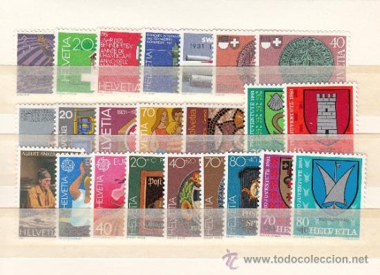 SUIZA 1121/42, A 48 SIN CHARNELA, AÑO 1981 VALOR CAT 27.35 € + (Sellos - Extranjero - Europa - Suiza)