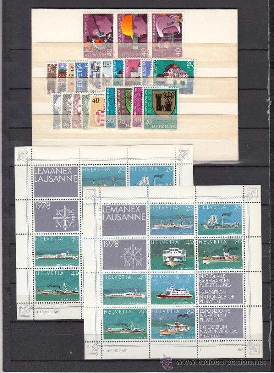 SUIZA 1046/75, HB 23 SIN CHARNELA, AÑO 1978 VALOR CAT 36.20 € + (Sellos - Extranjero - Europa - Suiza)