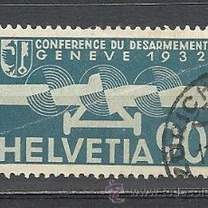 Sellos: SUIZA AEREO 1932, ZUMSTEIN Nº 18, CONFERENCIA DE DESARMAMENTO. MATASELLADO. Lote 33295998