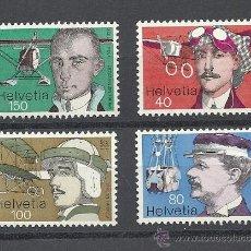 Stamps - SUIZA 1977, ZUMSTEIN Nº 582/585**, PIONEROS DE LA AVIACION. - 33370153