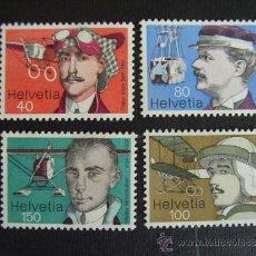 Sellos: SUIZA Nº YVERT 1017/0*** AÑO 1977. PIONEROS DE LA AVIACION. Lote 33518170