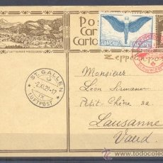 Sellos: 1929.- ST. GALLEN A LAUSSANNE (SUIZA). Lote 35323446