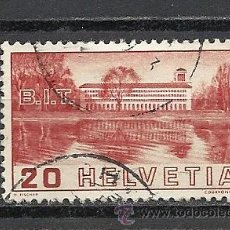 Sellos: SUIZA 1938, ZUMSTEIN Nº 211, OFICINA INTERNACIONAL DE TRABAJO. MATASELLADO. Lote 35839728