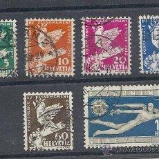 Sellos: SUIZA 1932, ZUMSTEIN Nº 185/190, CONFERENCIA DE DESARMAMENTO EN GINEBRA. Lote 36429715