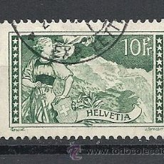 Sellos: SUIZA 1928-31, ZUMSTEIN Nº 179, JUNGFRAU. MATASELLADO. Lote 36434074