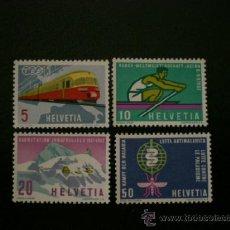 Sellos: SUIZA 1962 IVERT 689/92 *** PROPAGANDA - ANVIERSARIOS Y ACONTECIMIENTOS. Lote 37446520