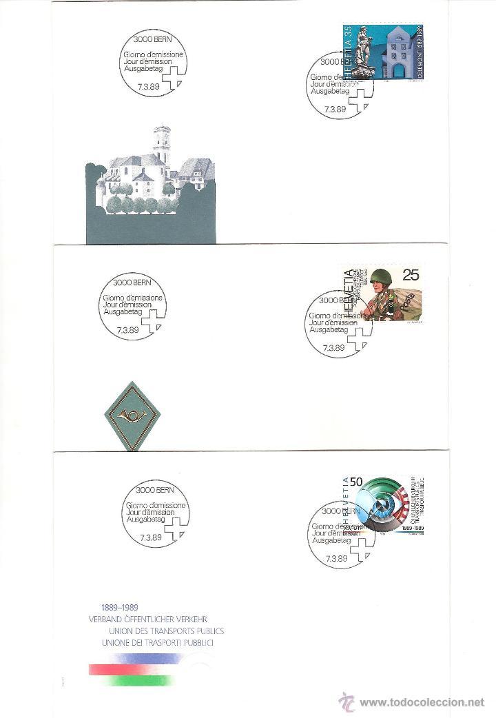 Sellos: LOTE SPD SUIZA AÑO COMPLETO 1989 25 sobres - Foto 3 - 39473203