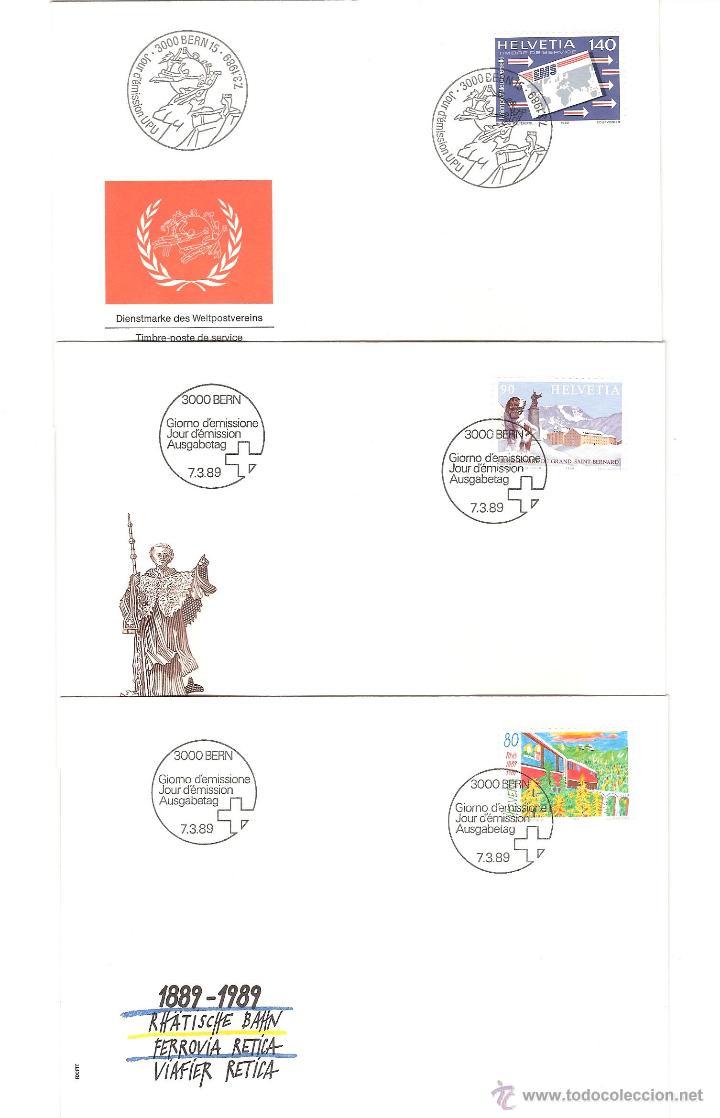 Sellos: LOTE SPD SUIZA AÑO COMPLETO 1989 25 sobres - Foto 4 - 39473203