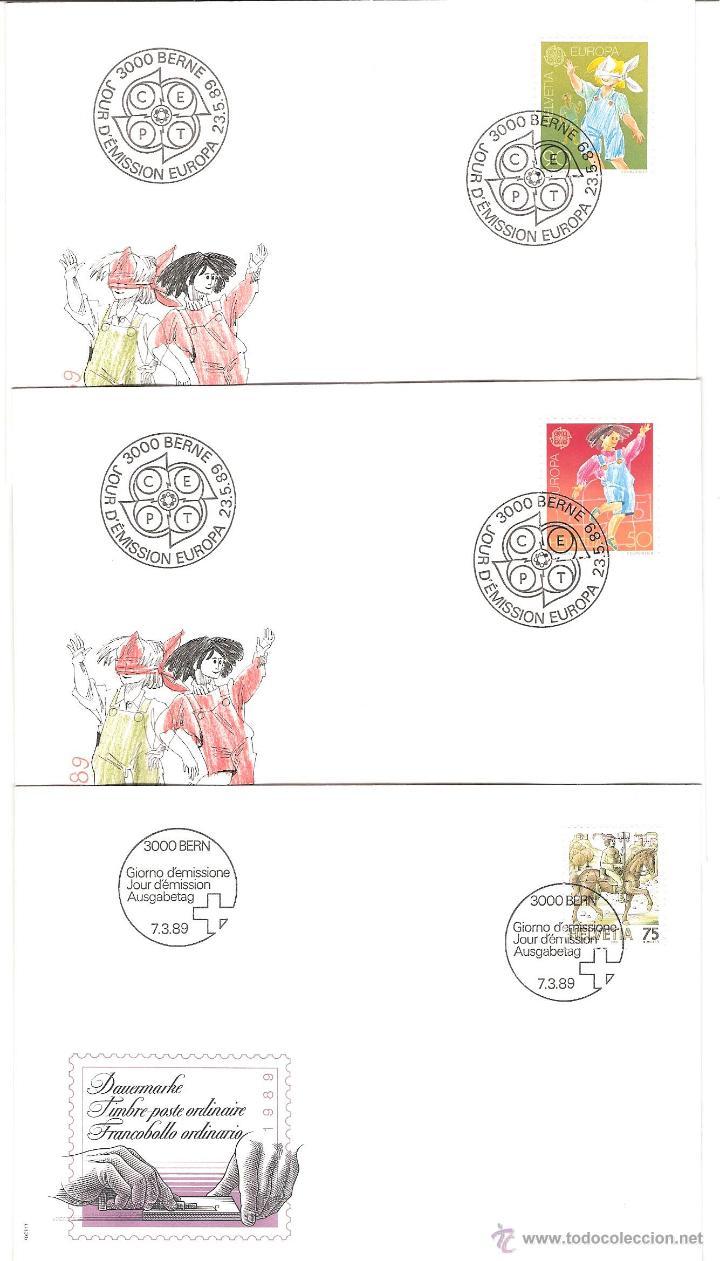 Sellos: LOTE SPD SUIZA AÑO COMPLETO 1989 25 sobres - Foto 5 - 39473203