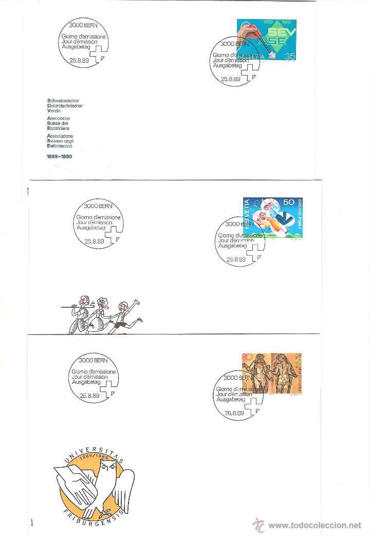 Sellos: LOTE SPD SUIZA AÑO COMPLETO 1989 25 sobres - Foto 7 - 39473203
