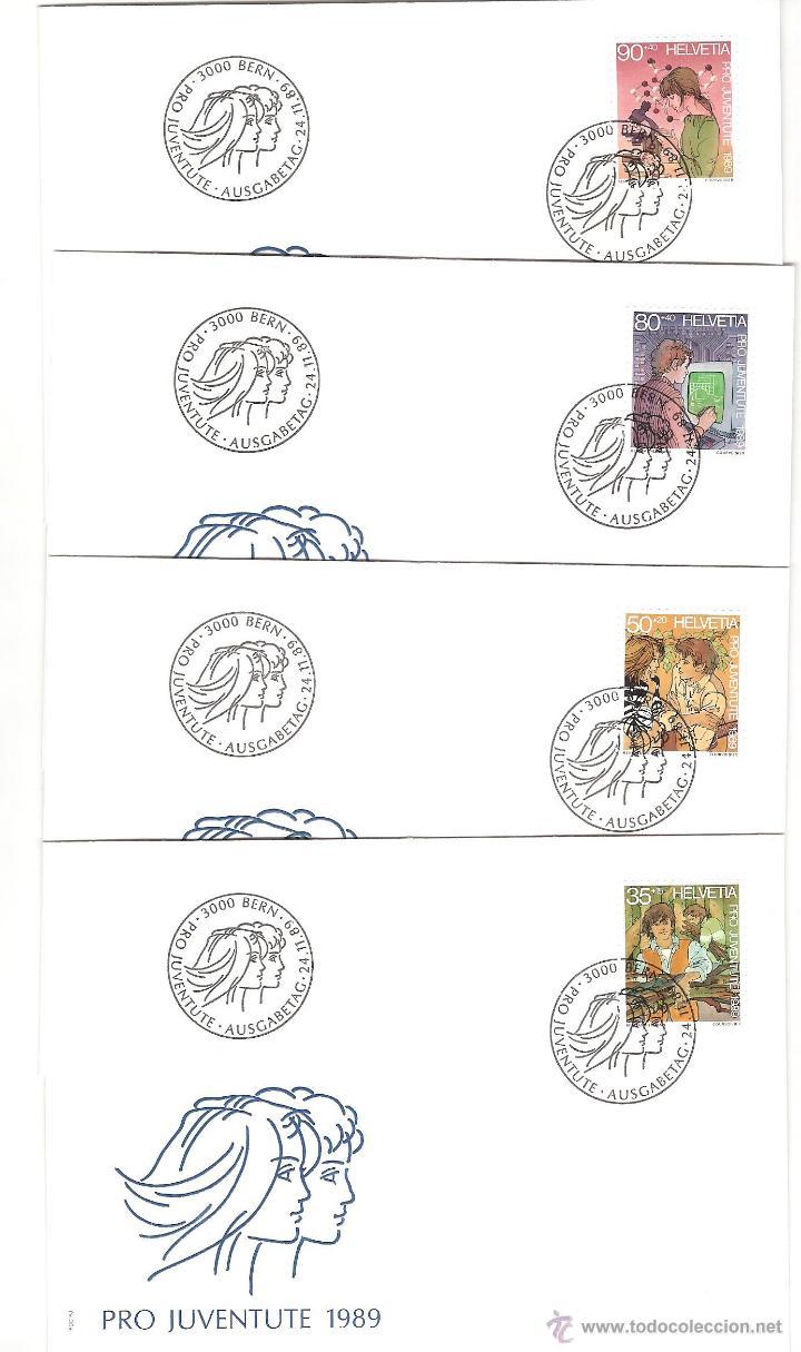 Sellos: LOTE SPD SUIZA AÑO COMPLETO 1989 25 sobres - Foto 9 - 39473203
