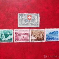 Sellos: SUIZA 1953, YVERT 531-35, NUEVOS. Lote 39696235