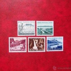 Sellos: SUIZA 1954, YVERT 548-52, NUEVOS. Lote 39700147