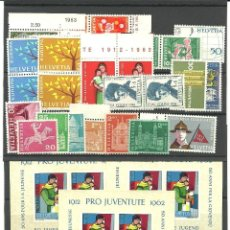 Sellos: SUIZA CONJUNTO DE SERIES, SELLOS Y HB DE LOS AÑOS 1962/63. Lote 39704247