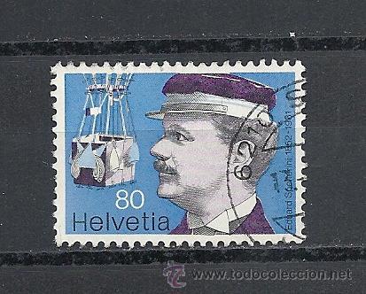 SUIZA 1977,ZUMSTEIN Nº 583, PIONEROS DE LA AVIACION, MATASELLADO (Sellos - Extranjero - Europa - Suiza)