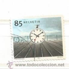 Sellos: SUIZA 2003. RELOJ DE LA ESTACIÓN, HANS HILFIKER (1901-93). Lote 262696640