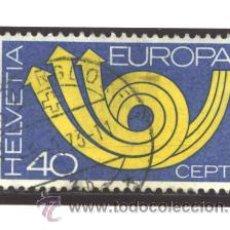 Sellos: SUIZA 1973 - YVERT NRO. 925 - USADO - ADELGAZADO. Lote 41034303