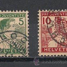 Sellos: SUIZA 1915, PRO JUVENTUD,ZUMSTEIN Nº 2/3 MATASELLADO. Lote 41324281