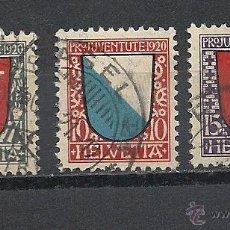 Sellos: SUIZA 1920, ZUMSTEIN Nº 15/17, PRO JUVENTUD.MATASELLADO. Lote 41339360