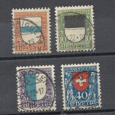 Sellos: SUIZA 1922, ZUMSTEIN PRO JUVENTUD, Nº 21/24, MATASELLADO. Lote 41339614