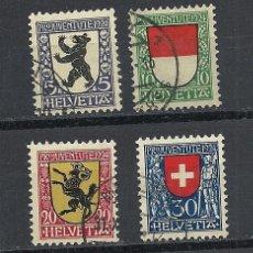 Sellos: SUIZA 1924, ZUMSTEIN Nº 29/32, PRO JUVENTUD. MATASELLADO. Lote 41516682