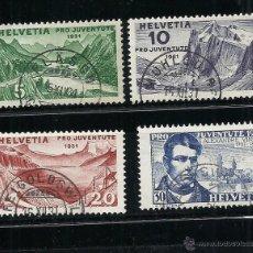 Sellos: SUIZA 1931, ZUMSTEIN Nº57/60, PRO JUVENTUD. MATASELLADO. Lote 41516797
