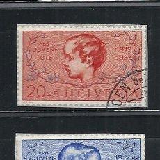 Sellos: SUIZA 1937, ZUMSTEIN Nº 83 I/84 I, PRO JUVENTUD 1912-1937, MATASELLADO. Lote 41594584