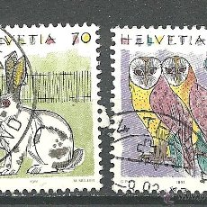Sellos: YT 1364-65 SUIZA 1991 ANIMALES (II) . Lote 41602315