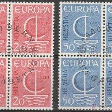 Sellos: SUIZA. TEMA EUROPA . 1966. 1º DIA DE CIRCULACION. B/4 (TC314). Lote 43502632