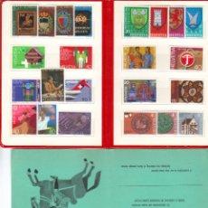 Sellos: AÑO COMPLETO DE EMISIONES POSTALES DE SUIZA 1981 EN PRESENTACION DE CORREOS PTT MNH ***. Lote 34916174