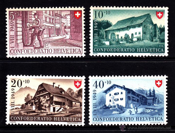 SUIZA 477/80** - AÑO 1949 - FIESTA NACIONAL - ARQUITECTURA (Sellos - Extranjero - Europa - Suiza)