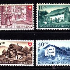 Sellos: SUIZA 477/80** - AÑO 1949 - FIESTA NACIONAL - ARQUITECTURA. Lote 43875211