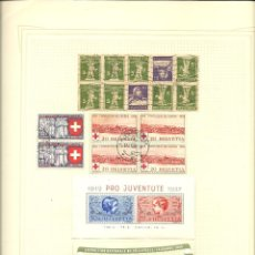 Sellos - Suiza. Resto colección Aereoa, Hojas Bloques, Taxas - 43949220