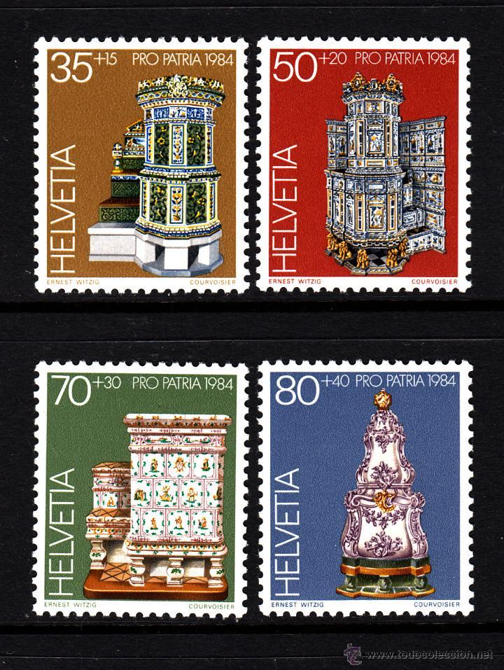 SUIZA 1201/04** - AÑO 1984 - PRO PATRIA - ANTIGUEDADES - OBRAS DE MUSEOS SUIZOS (Sellos - Extranjero - Europa - Suiza)