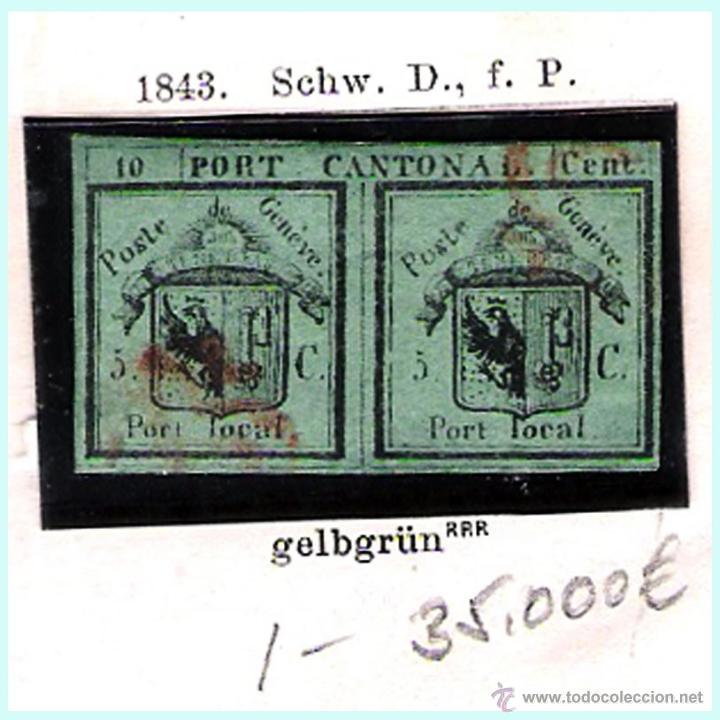 Sellos: SUIZA.- RESTO DE COLECCION PARTE CLASICA EN USADO DE 1843 A 1889. Cat.+ 60.705 €. Año 2005 - Foto 2 - 44362000
