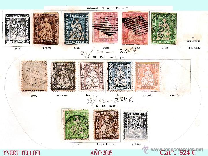 Sellos: SUIZA.- RESTO DE COLECCION PARTE CLASICA EN USADO DE 1843 A 1889. Cat.+ 60.705 €. Año 2005 - Foto 5 - 44362000