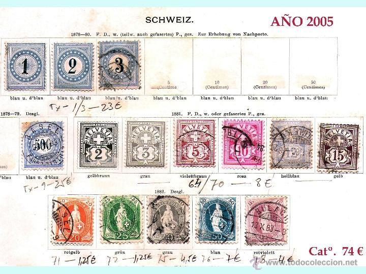 Sellos: SUIZA.- RESTO DE COLECCION PARTE CLASICA EN USADO DE 1843 A 1889. Cat.+ 60.705 €. Año 2005 - Foto 7 - 44362000