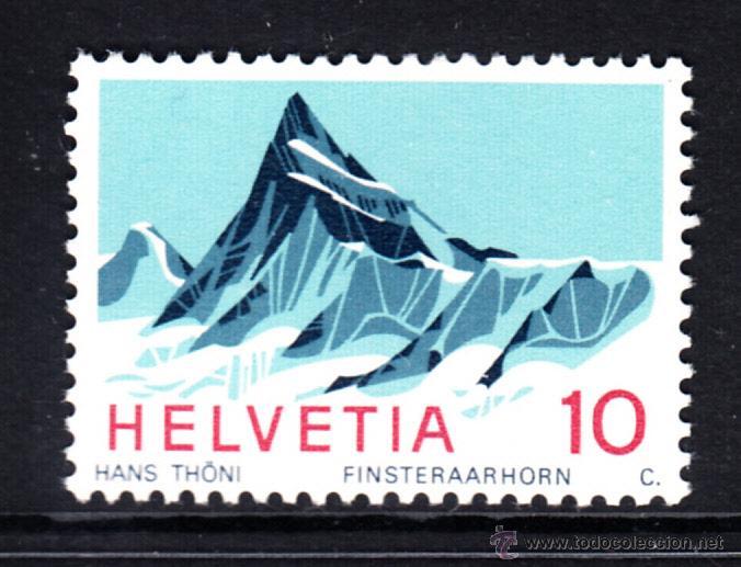 SUIZA 775** - AÑO 1966 - ALPES SUIZOS - MONTE FINSTERAARHORN (Sellos - Extranjero - Europa - Suiza)