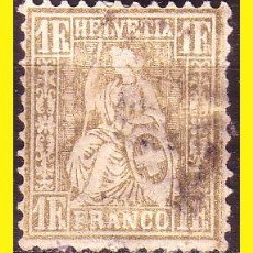 Sellos: SUIZA 1862 IVERT Nº 41 (O). Lote 47697379