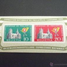 Sellos: SUIZA Nº YVERT HB 15** AÑO 1955. EXPOSICION NACIONAL DE FILATELIA. Lote 47926044