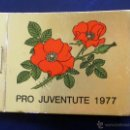 Sellos: CARNET CON 12 SELLOS PRO JUVENTUTE 1977. . Lote 48958686